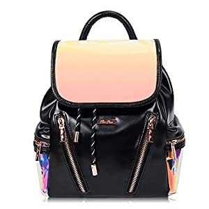 RenDian Women's Mini Cute Fashion Backpack Purse Anti-Theft Luminous Flash Leather Shoulder Bags, for Travel/Dating/Leisure