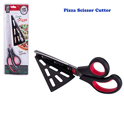 Pizza Scissor Cutter Multifunctional Kitchen Big Scissors, Chef Stainless Steel Detachable Spatula Shovel