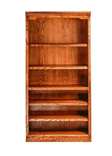 - Forest Designs HFF-6124-TG Standard Bookcase, 36W x 13D x 72H, Golden Oak