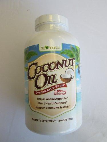 Coconut Oil Organic Extra Virgin, 1000 Mg Per Softgel ...