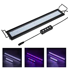 Hygger high-quality led aquarium light with extendable mounting brackets is specially designed for most fish tank (12-52 inch) use. We use 5730 Leds, more bright and energy saving, soft light will make your aquarium water looks sparkly clean,...