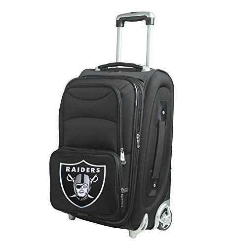 Denco NFL Los Angeles Raiders In-Line Skate Wheel Carry-On Luggage, 21-Inch, (21' Expandable 2 Wheel)
