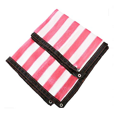 CAICOLOR 8 Pin Red And White Sunscreen Net Home Carport Garden Cooling Insulation Dust Cover (Size : ()