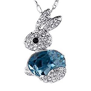 LAMEIDA Lovely Crystal Necklace Rabbit Pendant Chain Jewelry Accessories For Women Girls Birthday Festival Party Gift…