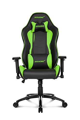 Cheap AKRacing Nitro Series Premium Gaming Chair with High Backrest, Recliner, Swivel, Tilt, Rocker and Seat Height Adjustment Mechanisms with 5/10 warranty Green