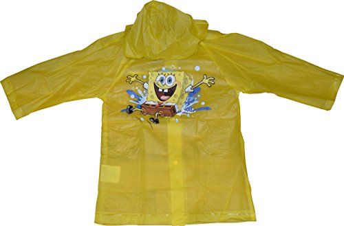 Nickelodeon Sponge Bob Squarepants Boy's Raincoat (X-Large 7-8)
