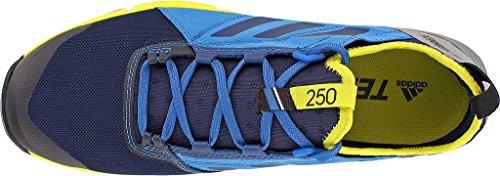 Adidas Mens Terrex Agravic Speed Trail Scarpe Da Corsa Collegiale Blu Marino, Nucleo Blu, Unità Lime