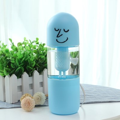 Blue Stones New 450cc Creative Glass Water Bottle with Tea Infuser Filter Container Funny Water Milk Jar Decorative Gift Whole (Milk Stones Glass)