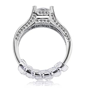 Ring Size Adjuster with Jewelry Polishing Cloth,3 Sizes Fit for Any Rings,Clear Ring Sizer,Perfect for Loose Rings,Pack of 12(2mm/3mm/4mm)