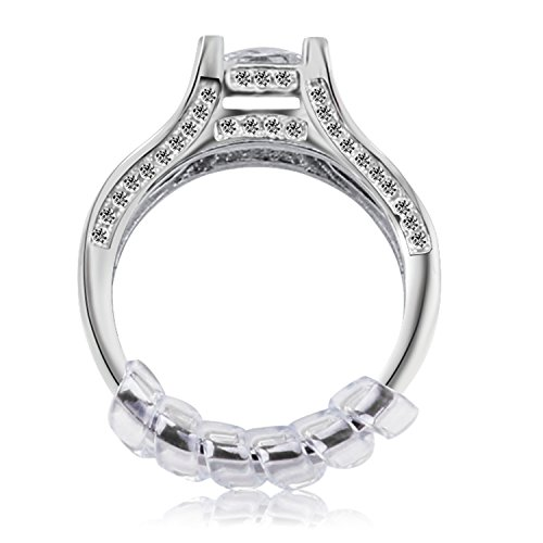 : Ring Size Adjuster with Jewelry Polishing Cloth,3 Sizes Fit for Any Rings,Clear Ring Sizer ,Perfect for Loose Rings,Pack of 12(2mm/3mm/4mm)