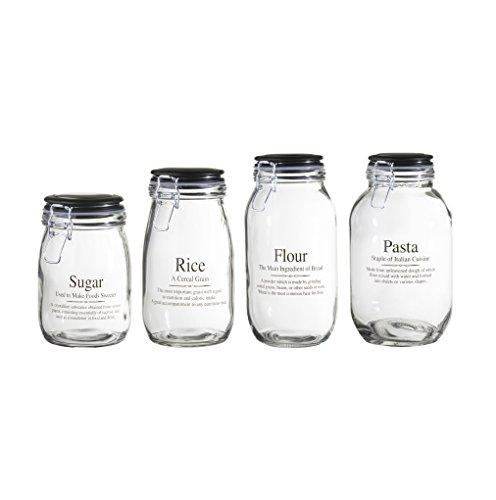 Global Amici Webster Hermetic Preserving Jar (Set of 4), Clear