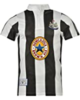 Newcastle United FC Official Football Gift Mens 1996 Retro Home Kit Shirt