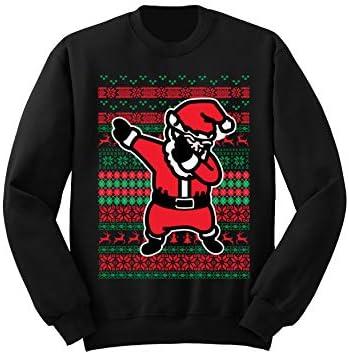 fresh tees Dabbing Santa Ugly Christmas Sweater Holiday Sweatshirt Dabbing Santa Sweater