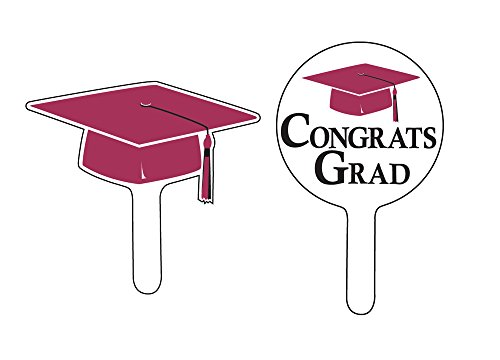 Creative Converting Graduation Congrats Burgundy