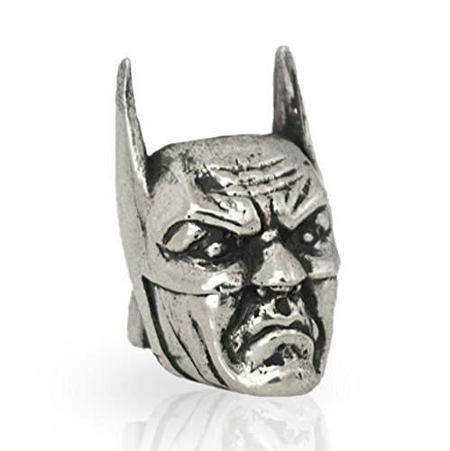 BATMAN Paracord Bead for Making DIY Bracelet or EDC Lanyard - Exclusive Design - Hand-Cast in Nickel Silver (Melchior), Blackened & Polished from Unique Handmade Arts & Crafts
