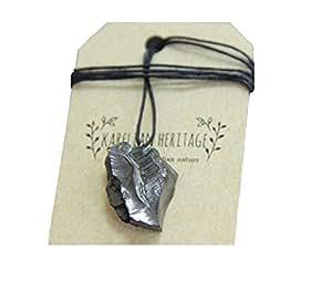 Karelian Heritage - Best Elite Shungite pendant, EMF protection, root chakra stone. Noble shungite Gift for Him Her PE24