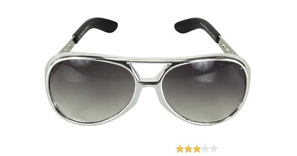 Amazon com: elope Elvis Presley Basic Sunglass, Silver, One Size
