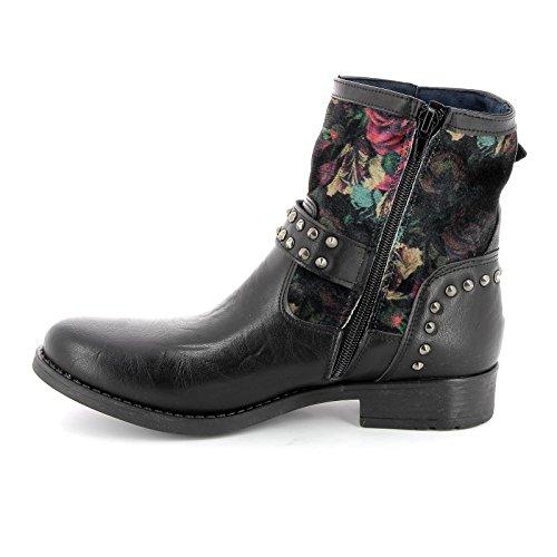Et En Alesya Inserts Basses Bottines Multicolore Scarpe Floral Avec Velours Micro goujons By amp;scarpe 8xq6v8