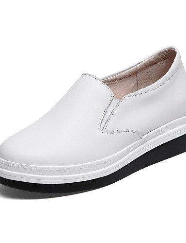 Bout Décontracté Uk4 5 Noir 5 cuir Nappa Compensé Baskets White La Compensées Chaussures Femme Cn37 Talon Arrondi Njx us6 Extérieure Mode Blanc 5 Hug 7 À Eu37 gqSwXIxv