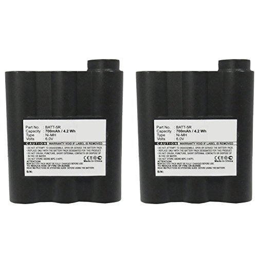 2pcs Exell FRS Two-Way Radio Battery Fits Alan G7, Midland G