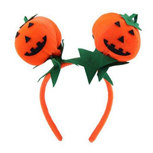 George Jimmy Halloween Costume Party Dress Up Head Dress Cute Pumpkin Ball Headband]()