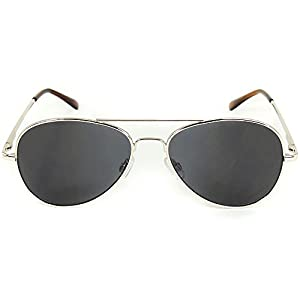 Streetwise Security Products Gold Frame Aviator Spy Sunglasses 360-degree Rearview with Black Carrying Case