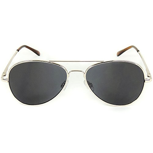 Gold Frame Aviator Spy Sunglasses 360-degree Rearview with Black Carrying - 360 Sunglasses