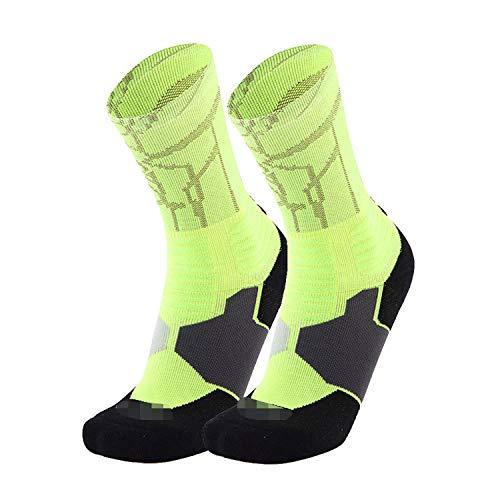 1Pair Men's Athletic Cushion Socks Performance Nylon Compression Sport Basketball Arch Support Socks