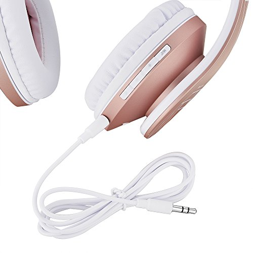 Wireless Stereo Foldable Headphones Wireless And Wired Headsets With Built In Mic Ocean Blue White Powerlocus Bluetooth Over Ear Headphones Fm For Iphone Samsung Ipad Pc Micro Sd Tf Electronics Photo Portable Sound Video