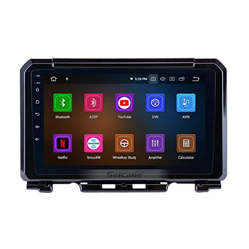 Android 9.0 9 inch GPS Navigation Radio for Suzuki JIMNY 2019 with Bluetooth USB WiFi Support SWC 1080P(8-Core, 4G+32G (Best Chinese Double Din Head Unit 2019)