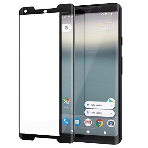 MoKo Google Pixel 2 XL Screen Protector - [Scratch Terminator][3D Curved Edge] 9H Hardness Tempered Glass Ultra Clear Screen Protector Film for Google Pixel 2 XL 2017 - - Google Terminator Glasses