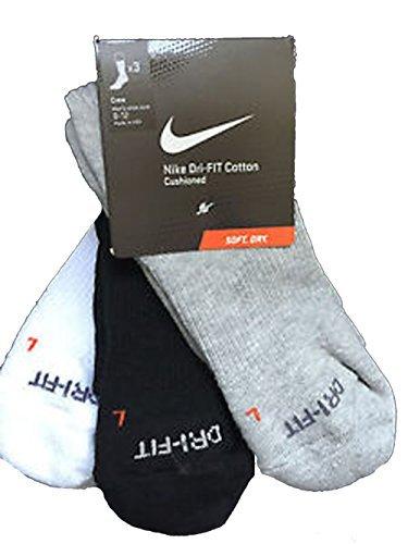 Nike Dri-FIT Cushion Crew Athletic Socks 3-Pack