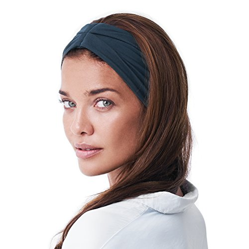 BLOM Multi Style Headband for Sports or Fashion, Yoga or Travel. Happy Head Guarantee - Super Comfortable. Designer Style & Quality (Dark - Gift Card Bike Performance