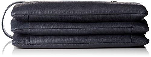 Piquadro Pochette Collezione Cross Borsa a mano, Pelle, Blu, 24 cm
