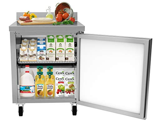 "KoolMore 27"" Worktop Commercial Refrigerator with 3 1/2 Backsplash - 6.3 cu.ft from KoolMore"