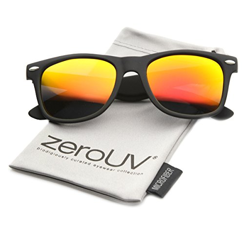 zeroUV ZV-8030e Polarized Wayfarer Sunglasses, Black, 58 mm