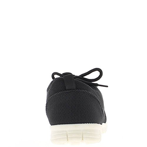 Sneakers Flat Black nest Women bee with Thick Soles iqYuJac