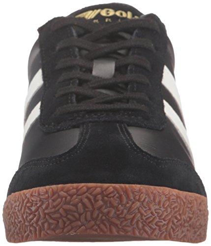 Gola Menns Harrier Skinn Mote Sneaker Svart / Hvit / Tyggis