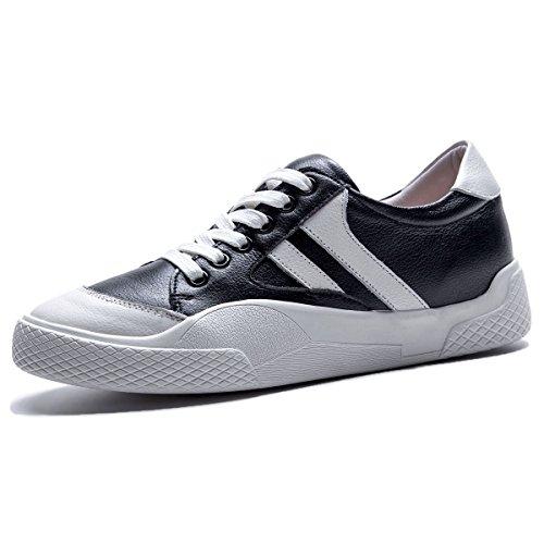 Derby Odécontractée Noir Lacets Baskets Chaussures Roseg Cuir Femme nk80XwPO