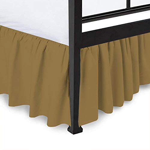 (Ruffled Bed Skirt Split Corners Ultrasoft Poly Cotton/Microfiber Upto 14
