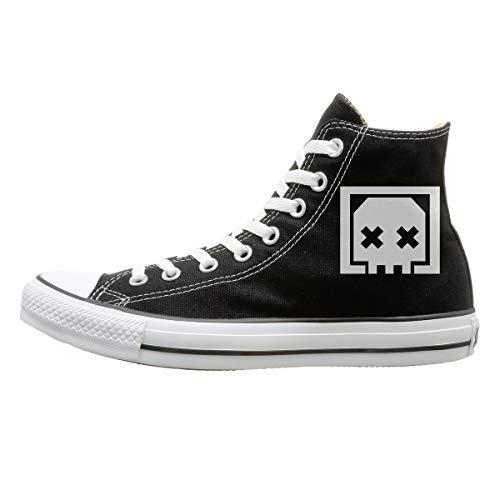 (Men's Women's High Top Stylish Shoes Apex Legend Battle Royale Game Lace Up Canvas Shoes Black 126)