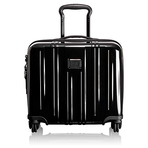 TUMI - V3 Compact Carry-on Wheeled Laptop Briefcase - 14 Inch Computer Case for Men and Women - Black