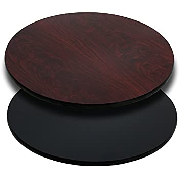 Amazoncom Flash Furniture Round Table Top With Black Or - Unfinished round table top