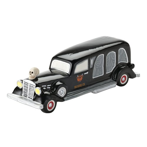 Department 56 4025403 Halloween Accessories for Dept 56 Village Collections Sell Your Soul, Hearse Village Accessory, 6.5 x2.25 x2 -Inc.