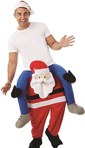 Adults Mens Ladies Lift Me Up Santa Ride On Step in Christmas Xmas Festive Fun Fancy Dress Costume Outfit -