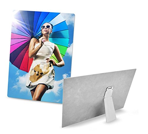 Retermit 5 pcs HD Sublimation Aluminum Plate with Stand Sublimation Metal Sheet Sublimation Blank 7.8x11.8 inch (20x30cm) by Retermit