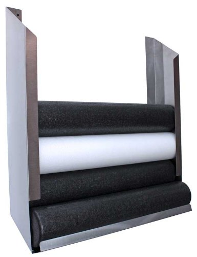Wall-mount Storage Rack for Foam Rollers, Holds 6 by River's Edge Products