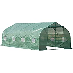 Outsunny 20' x 10' x 7' Portable Steel Large Backyard Greenhouse