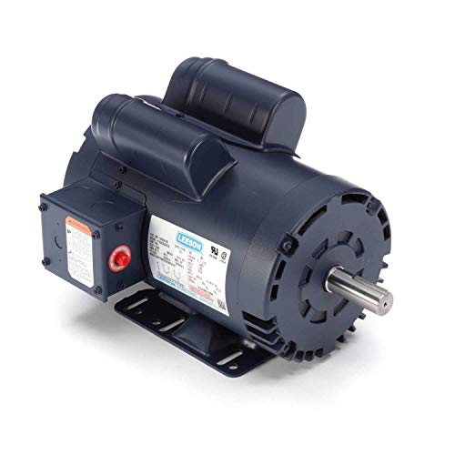 Leeson 120554.00 Compressor Duty ODP Motor, 1 Phase, 145T Frame, Rigid Mounting, 5HP, 3600 RPM, 230V Voltage, 60Hz Fequency