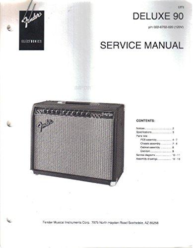 FENDER Deluxe 90 Amplifier Amp Service Manual Repair Guide, pn 022-6702-020